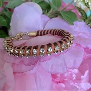 J.CREW Rhinestones Woven Bracelet